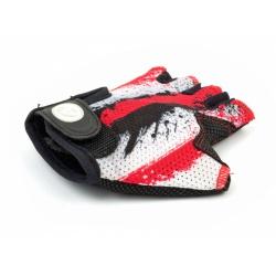 Rukavice Junior X6 červená/bílá/černá M