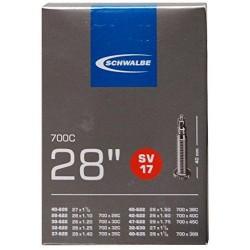 """Schwalbe duše 28"""" SV17 40 mm 28/47-622/635 galuskový ventilek"""