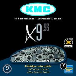 řetěz KMC X-9.93 stř/šedý