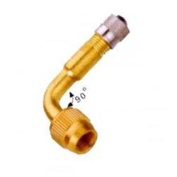 prodloužení autoventilku 90 stupňů mosaz s ventilk