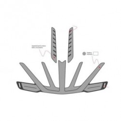 Scott Inner Pads Spare Kit Arx grey M
