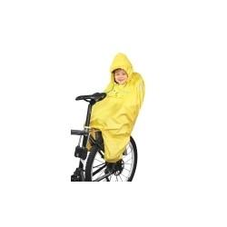 PONCHO-pláštěnka na dítě v sedačce žluté