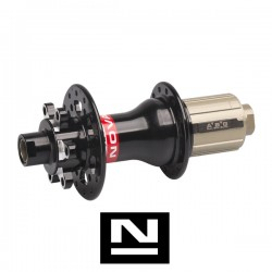 Náboj Novatec D792SB-X12-11S-ABG, zadní, 32-děr, černý (N-logo)