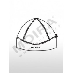 Moira Plyš čepice tvarovaná černá s červenými švy S-M PL/CET