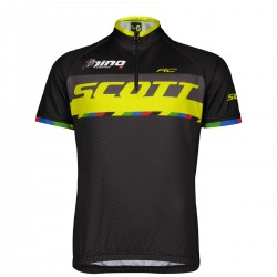 Scott Shirt Jr RC Pro s/sl black/sulphur yellow/nino 164