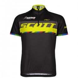 Scott Shirt Jr RC Pro s/sl black/sulphur yellow/nino 164