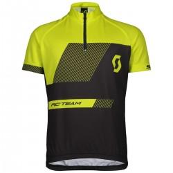Scott Shirt Jr RC Team s/s black/sulphur yellow 152