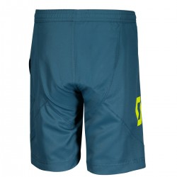 Scott Shorts Jr Trail 10 ls/fit w/pad lunar blue/sulphur yellow 164