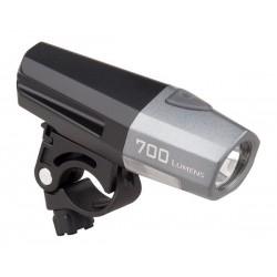 Světlo přední SMART 185-W-USB černo/sříbrné 700lm