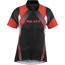 Scott shirt Women Shadow Race s/sl black/coral red M