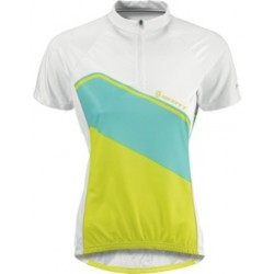 Scott shirt Women Classic s/sl white/lime green L