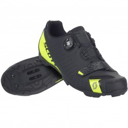 Scott MTB Future Pro matt black/sulphuryellow 37 dětská cyklistická obuv