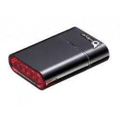 OWLEYE Highlux 5 s USB dobíjením černé zadní světlo