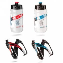 Elite Kit Ceo košík černý/červený+láhev Corsette čirá/červená