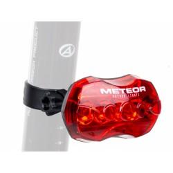Světlo zad. A-Meteor R ! (B+) černá/červené-sklo