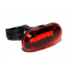 Světlo zad. TL-20 R 5 LED ! černá/červené-sklo