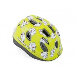 Přilba Mirage LED Inmold 163 zelená-medvěd 48-54cm