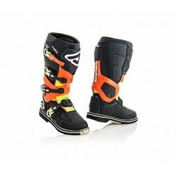 ACERBIS motokros boty X-ROCK černá/fluo oranž 43