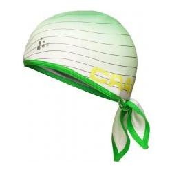 Craft Cool Bandana - šátek bílo-zelená 192438