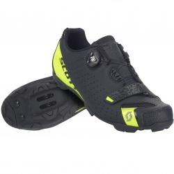 Scott MTB Future Pro matt black/sulphuryellow 34 dětská cyklistická obuv