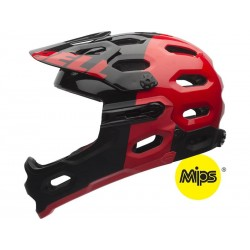 BELL Super 2R MIPS-red/black aggression-L